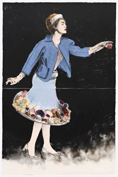 Will Cotton, 'Dessert Skirt Blue & Black', 2013