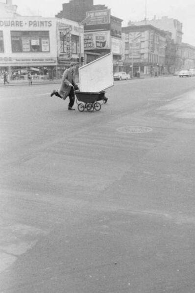 John Cohen, 'Red Grooms transporting artwork to Reuben Gallery, New York', 1960