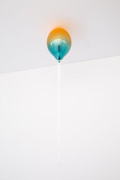 Jeppe Hein, 'Light Orange and Light Turquoise Mirror Balloon', 2019