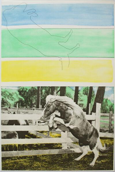 John Baldessari, 'Three Colors (with Horse Ascending)', 1986