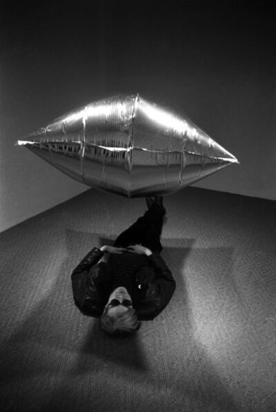 Steve Schapiro, 'Andy Warhol Under the Silver Cloud Balloon, Castelli  Gallery, New York, 1965', 1965