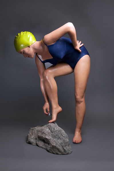 Carole A. Feuerman, 'The Message 3/6 - large, hyperrealism, female, swimmer, figurative sculpture', 2013