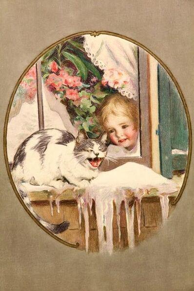 Will Rowland Davis, 'Unhappy Winter Cat', 20th Century