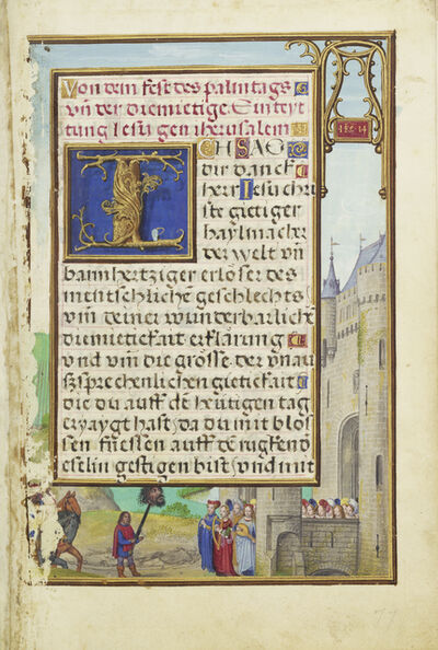 Simon Bening, 'Border with David's Return with Goliath's Head', 1525-1530
