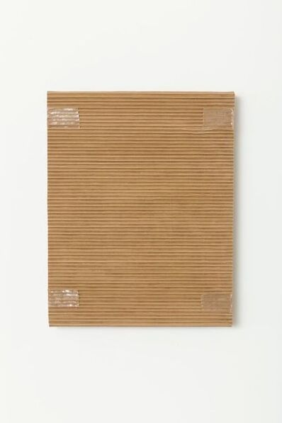 Tammi Campbell, 'Monochrome with Corrugated Cardboard and Tan Packing Tape', 2016