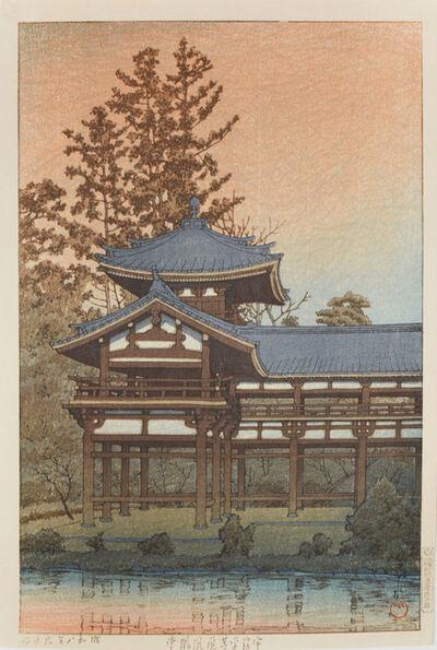 Kawase Hasui, 'Phoenix Hall, Byodo Temple, Uji', 1933