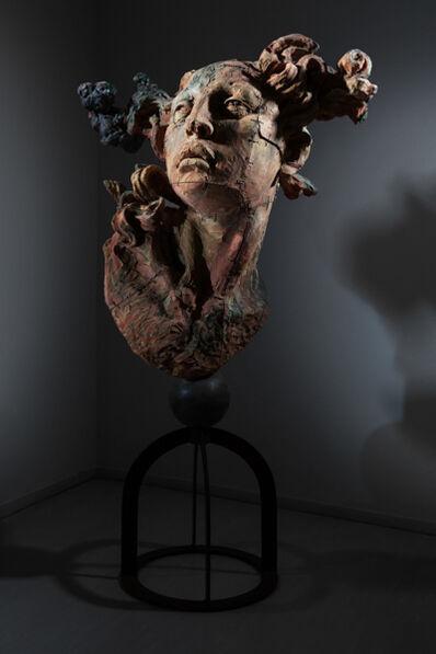 Javier Marin, 'Cabeza de mujer amarillo de barro', 1997