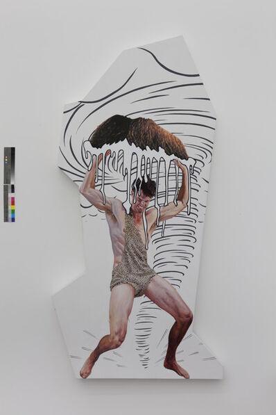 Jim Shaw, 'Dream Object (Irregularly Shaped Canvas: Milk Mustache)', 2013