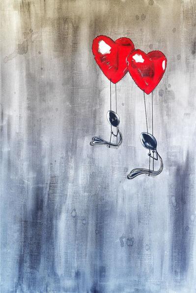 Simone D'Auria, 'Mr. Amore per sempre (omaggio a Banksy)', 2020