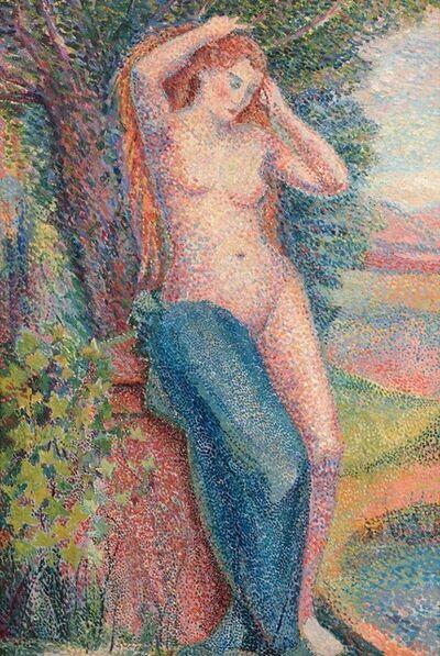 Hippolyte Petitjean, 'Baigneuse se coiffant', 1929
