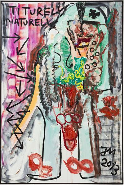 """Jonathan Meese, 'DER ERZFRISCHESTE MARMORIERTESTE CHEF """"ZUKUNFT"""" MURMELT """"GEH WEG""""', 2013"""