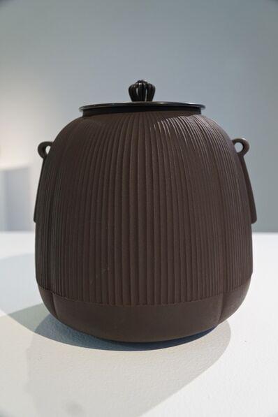 Hata Shunsai, 'Tea Kettle with Stripes 02', 2014