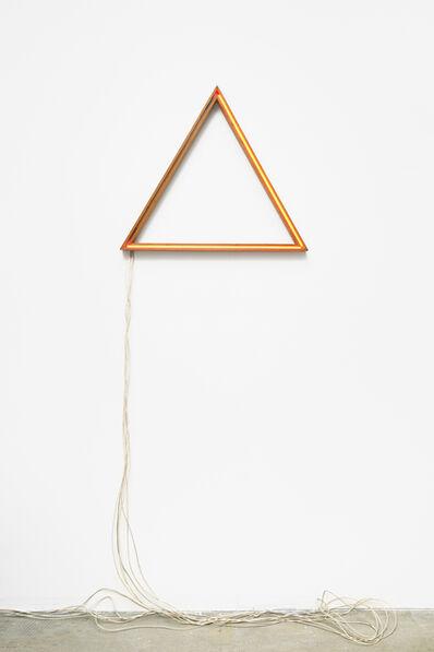 François Morellet, 'Triangle néons rouges interférents', 1973