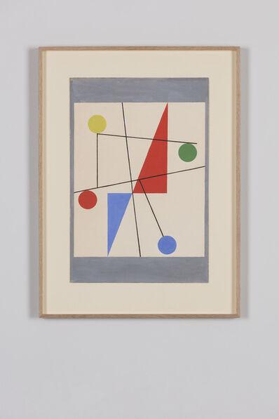 Sophie Taeuber-Arp, 'Triangles, cercles, lignes', 1932