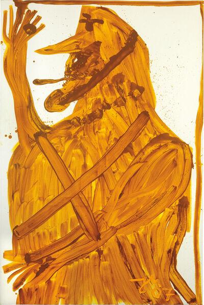 Jonathan Meese, 'Revolte, 1000 x Keuschheit goldene Diamantin die Totalvölkische', 2007
