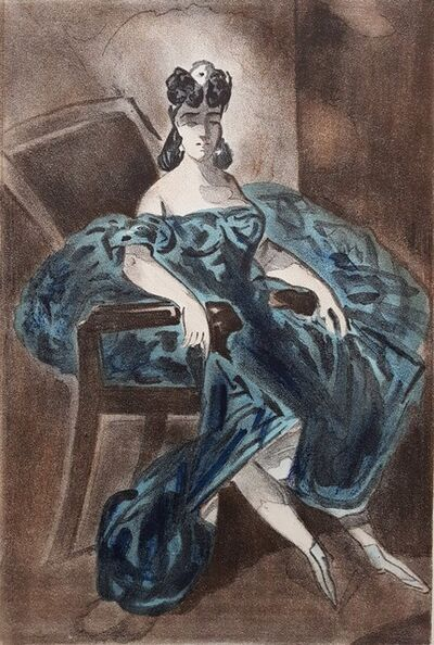 Constantin Guys, 'Femmes en Jolie Robes', 1939
