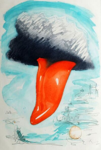 Claes Oldenburg, 'Tongue Cloud over London, with Thames Ball [A. & P. 158]', 1976