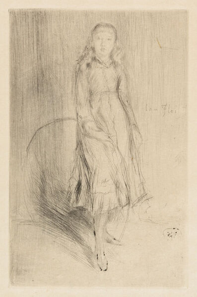 James Abbott McNeill Whistler, 'FLORENCE LEYLAND', ca. 1873