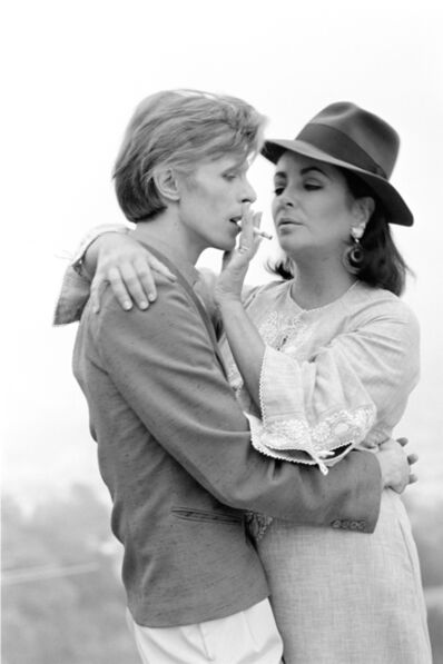 Terry O'Neill, 'David Bowie and Elizabeth Taylor, Beverly Hills', 1975