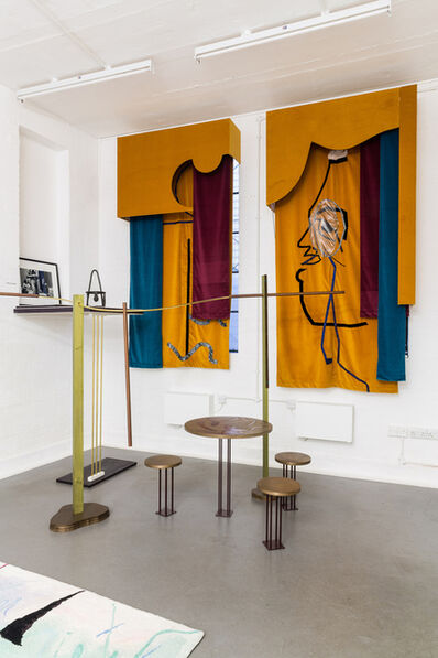 Than Hussein Clark, 'Installation view, Diaghilev Curtain (Like an Old Woman)', 2015