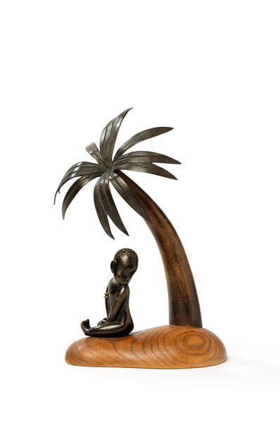 """Werkstatte Hagenauer Wien, '""""African Child under Palm Tree"""" ', ca. 1940"""