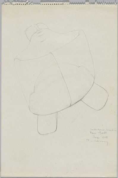 Maria Lassnig, 'Selbsportrait in New York', 1968