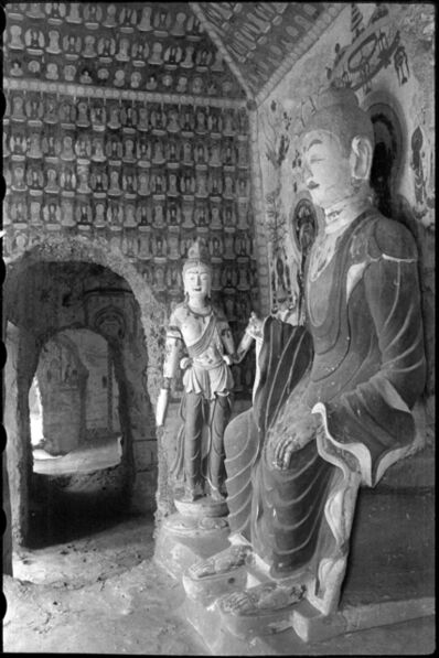 James and Lucy Lo, 'Mogao Cave 393, Sui dynasty (581–618). Dunhuang, Gansu province. The Lo Archive', Photograph taken in 1943–44