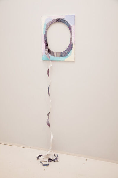 Merike Estna, 'A painting with a spiral cut out', 2012