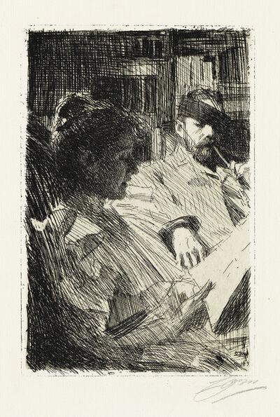 Anders Leonard Zorn, 'Reading.', 1893