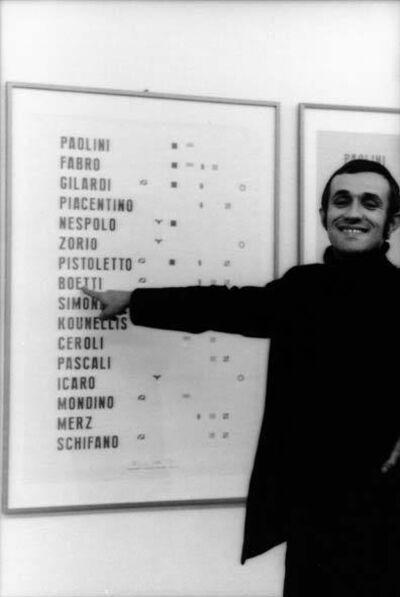 Alighiero Boetti, 'Insicuro Noncurante (detail), portfolio with 81 plates, edition of 41', 1972-1975