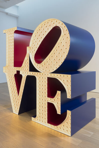 Robert Indiana, 'Electric American Love, White Blue Red', 2000