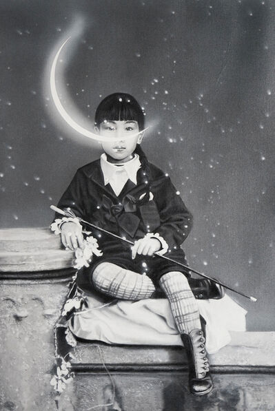 Zoé Byland, 'Girl and Moon', 2019