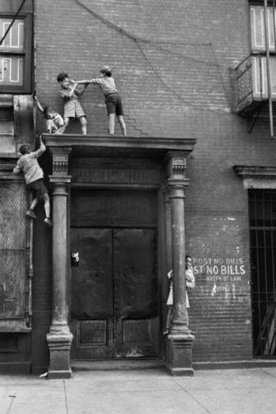 Helen Levitt, 'N.Y.C. (kids fighting over doorway)', ca. 1942