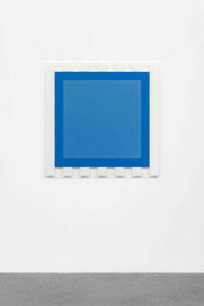 Daniel Buren, '(Sans titre) 6 (Elément carré bleu encadré de rayures blanches)', 2005
