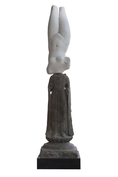 Xu Zhen 徐震, 'Eternity-Sui Dynasty Standing Bodhisattva, Marble Statuette of Aphrodite Anadyomene', 2014