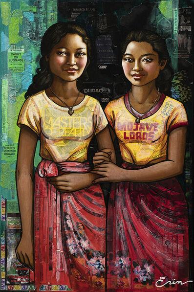 Erin Currier, 'Balinese Schoolgirls: Sumerti & Koming (after Chasseriau)', 2019