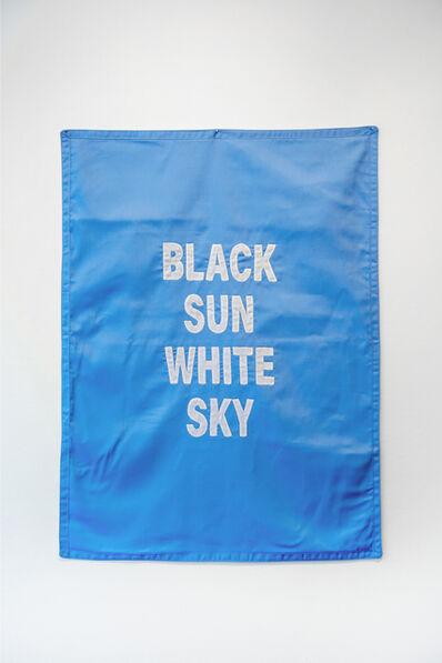 Emo de Medeiros, 'Black Sun White Sky, Surtentures (Blue)', 2018