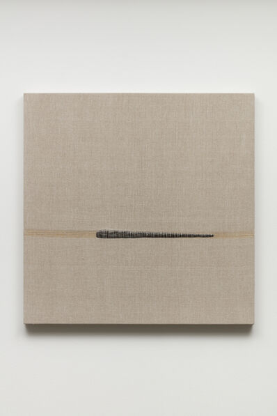 Analia Saban, 'Composition with Woven Brushstroke (Black) #1', 2019