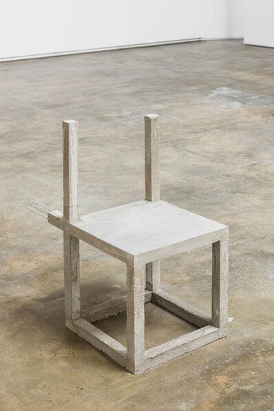 Felipe Arturo, 'Unfinished concrete chair #10', 2015