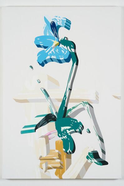 Soichi Yamaguchi, 'Overlap of paint (Iris flower in vase)', 2020