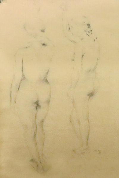 Akbar Padamsee, 'Two Nudes', 1960