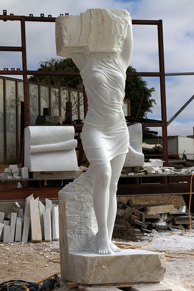 Marton Varo, 'Emerging Woman (Cararra, Italy Marble)'