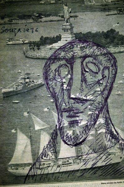 Francis Newton Souza, 'Untitled (Statue of Liberty Newsprint)', 1976