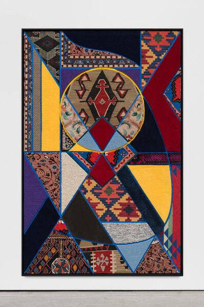 Nevin Aladağ, 'Social Fabric, blue petrol yellow', 2017