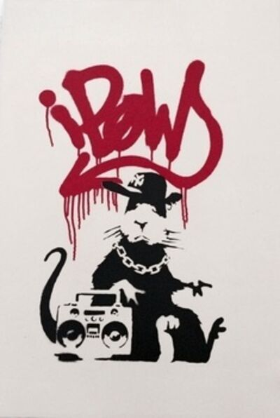 Banksy, 'Gangsta Rat signed', 2004