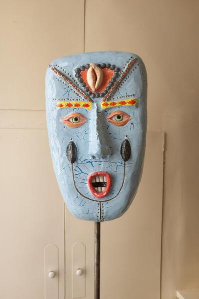 Agathe Brahami-Ferron, 'Blue african mask', 2018