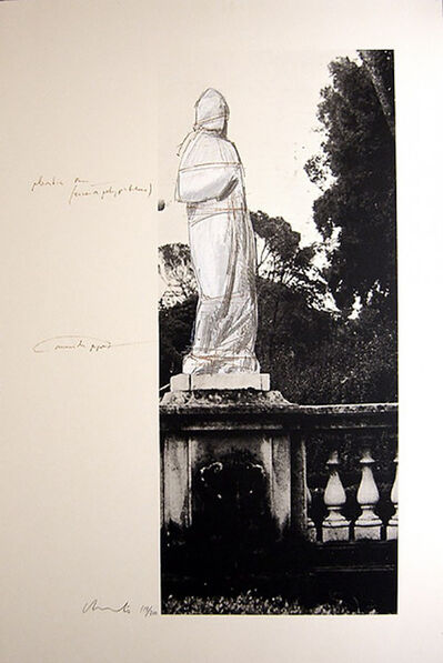 Javacheff Christo, 'Schweiz Verpackte Venus-Villa Borghese', 1974