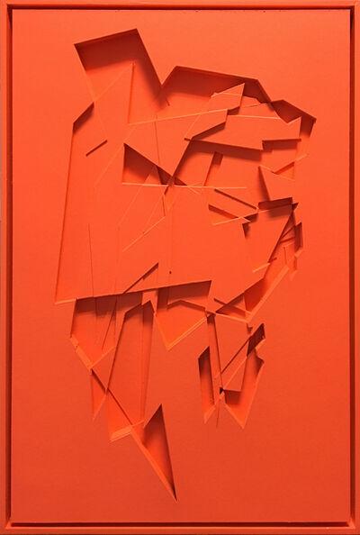 Marcel Thelen, 'No Title / Fluorescent Orange', 2017