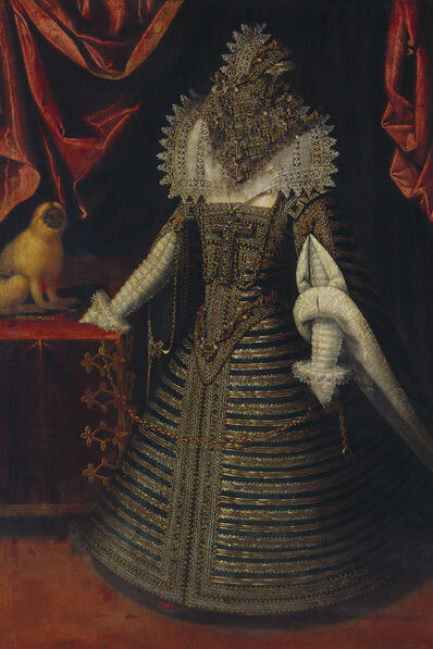 Gerlinde Miesenböck, 'Caput # 11 / 3421, based on: INFANTIN ANNA (1601–1666) by Juan Pantoja de la Cruz, 1604', 2018