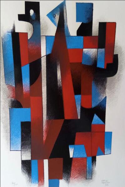 Carlos Merida, 'Characters of table number 14', 1984